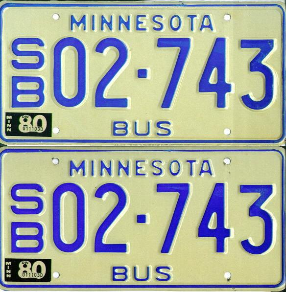 1980 MN Bus PAIR EX-Mint